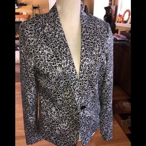 Rafaella black and white design blazer